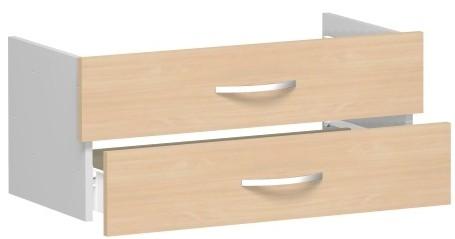 Schubkasteneinsatz für Korpusbreite 80 cm, 1 Ordnerhöhe, Buche