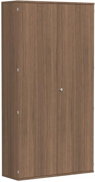 Garderobenschrank mit ausziehbarem Garderobenhalter, 120x42x230cm, Nussbaum