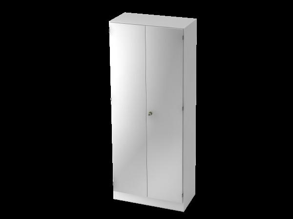 Garderobenschrank 5 Ordnerhöhen, SG Weiß / Silber