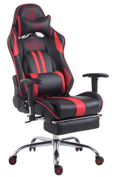 Racing Bürostuhl Limit mit Fußablage , schwarz/rot