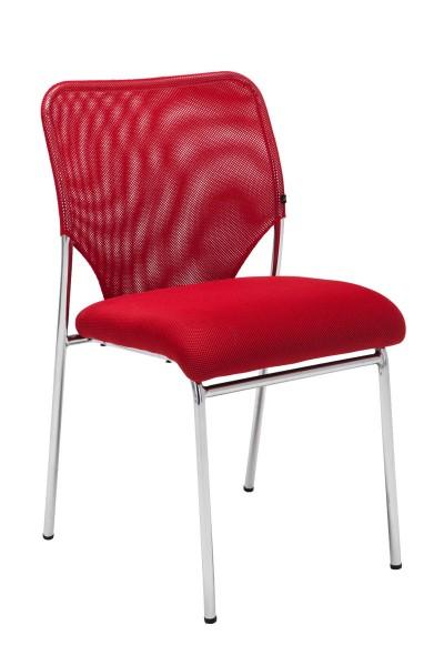 Besucherstuhl Klint, rot