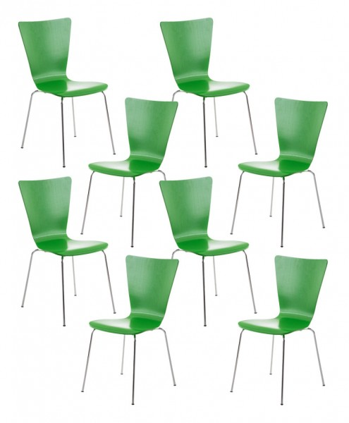 8er Set Besucherstuhl Aaron, grün