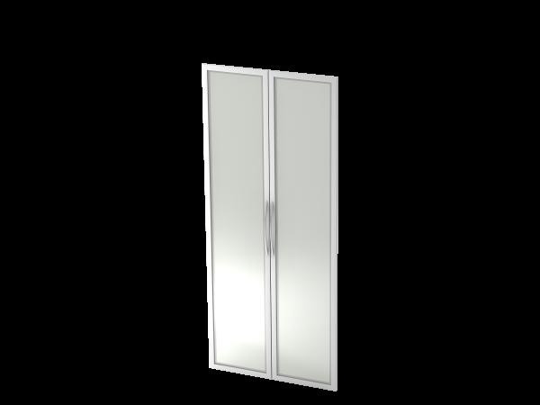 Glastüren, 5 OH, BM, Silber