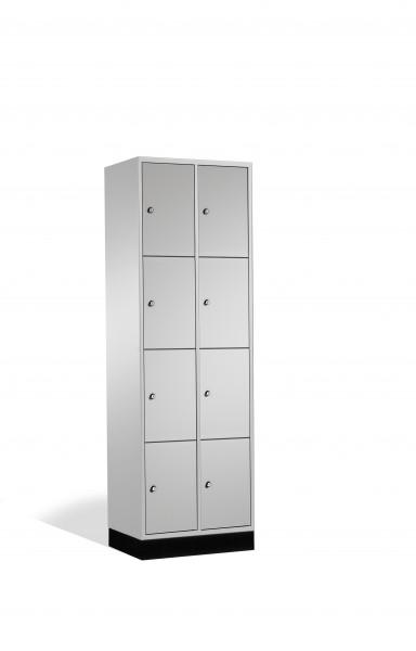Schließfachschrank Intro, 8 Fächer, 195x62x50cm