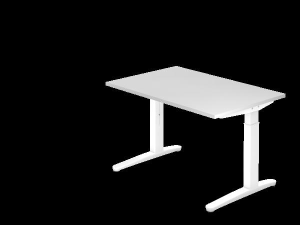 Schreibtisch C-Fuß 120 x 80 cm Weiß / Weiß