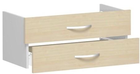 Schubkasteneinsatz für Korpusbreite 80 cm, 1 Ordnerhöhe, Ahorn