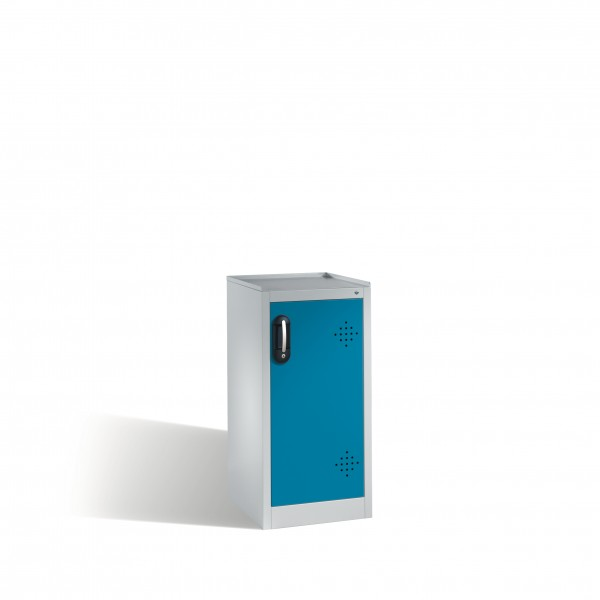Umwelt-Beistellschrank mit Drehtür, 2 Polyethylen-Wannen, 102x50x50cm