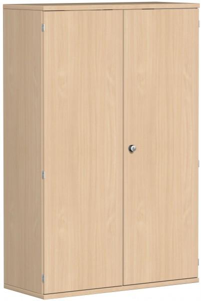 Garderobenschrank mit ausziehbarem Garderobenhalter, 100x42x154cm, Buche