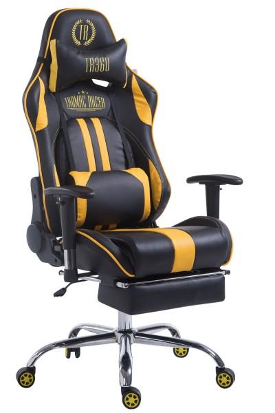 Racing Bürostuhl Limit mit Fußablage , schwarz/gelb