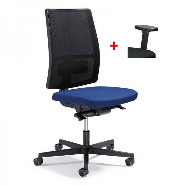 Bürodrehstuhl ecoSIT ohne Armlehnen mit Netzrücken