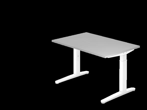 Schreibtisch C-Fuß 120 x 80 cm Grau / Weiß