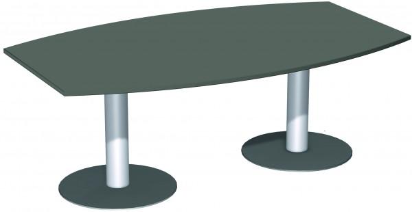 Konferenztisch Tellerfuß Faßform 200 x 80-1200 cm