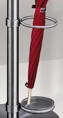 Arte Schirmhalter Edelstahl mit Tropfmulde ø180 mm