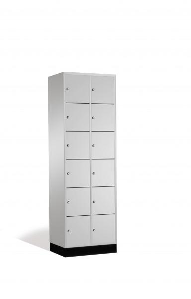 Schließfachschrank Intro, 12 Fächer, 195x62x50cm