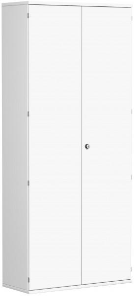 Garderobenschrank mit ausziehbarem Garderobenhalter, 100x42x230cm, Weiß