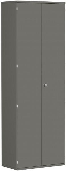 Garderobenschrank mit ausziehbarem Garderobenhalter, 80x42x230cm, Graphit