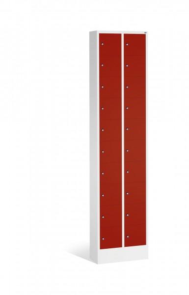 Kleingefachschrank Intro mit 20 Fächern, 195x46x20cm