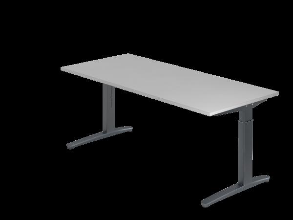 Schreibtisch C-Fuß 180 x 80 cm Grau / Graphit