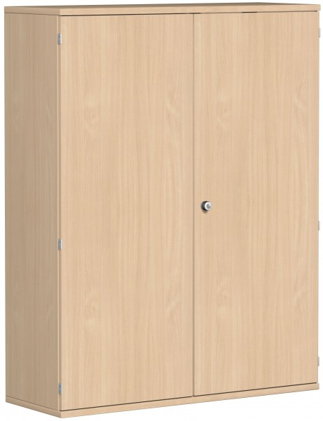 Garderobenschrank mit ausziehbarem Garderobenhalter, 120x42x154cm, Buche