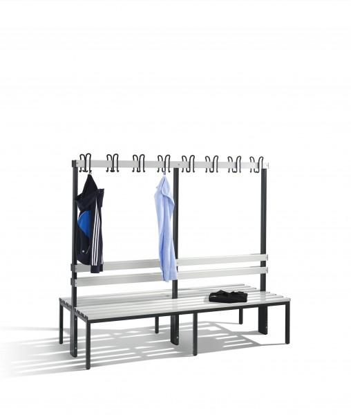 Doppelseitige Garderobenbank Basic, 165x196x75cm