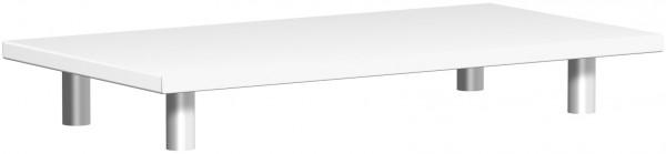 Aufsatzplatte, 80x42x11cm, Weiß