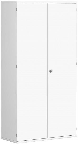 Garderobenschrank mit ausziehbarem Garderobenhalter, 100x42x192cm, Weiß